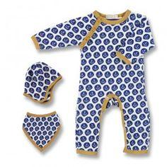 Blaues Baby-Set mit Anker-Motiv | Livietta Babykleidung