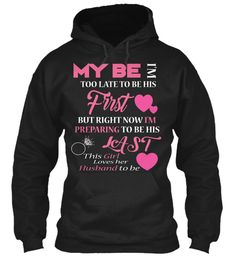 This Girl Loves Her Husband T Shirts Black Sweatshirt Front