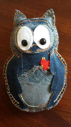 Denim Owl Pin Cushion