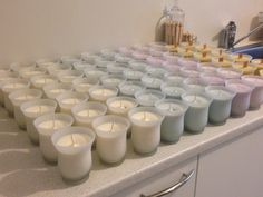 Candle mode Pyrex, Tea Lights, Candles, Crystals, Antiques, Glass, Antiquities, Antique, Drinkware