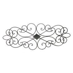 Black Scroll Metal Wall Decoration... Would be cute above the master bed.