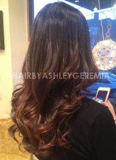 brown ombre, balayage, balayage highlights #hairbyashleygeremia