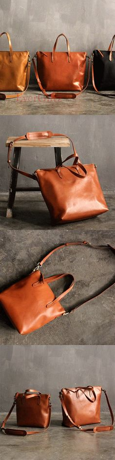 Handmade leather vintage tote women handbag shoulder bag crossbody bag