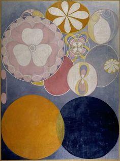 Hilma af Klint, De tio största, n° 2 Barnaaldern, 1907, Tempera auf Papier, 328 x 240 cm The Hilma af Klint Foundation, Stockholm
