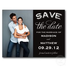 VINTAGE LABEL | SAVE THE DATE ANNOUNCEMENT POSTCARDS #fineanddandypaperie