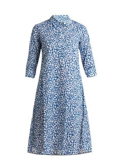Thierry Colson Angelica leaf-print cotton-voile dress