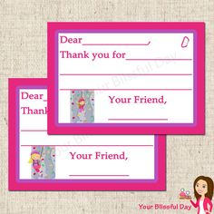 PRINTABLE Girl Rock Climbing Fill-in-the-Blank Thank You Cards