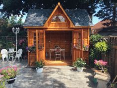 Arched Doors, Arched Windows, Small Wood Shed, Garden Shed Kits, Backyard, Patio, Shed Plans, Flower Boxes, Building Plans