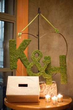 letters with moss