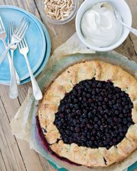 Free-Form Blueberry Tart Recipe from Food & Wine
