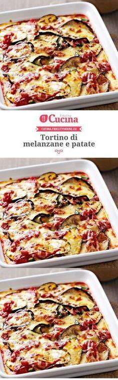 Tortino di melanzane e patate – Rezepte Vegetarian Recipes, Cooking Recipes, Healthy Recipes, Best Italian Recipes, Favorite Recipes, Antipasto, Susan Recipe, Good Food, Yummy Food