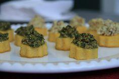 RECEITA THERMOMIX: Crostini de polenta e pesto de amêndoas