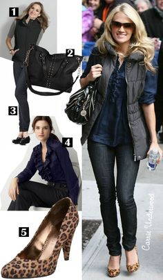 Carrie Underwood's Ruffle Front Blouse Recreate. Best Blog ever. Check it out