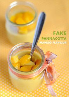 Finta Pannacotta al mango ~ fiordizucca - cibo, ricette, viaggi, travel, recipes, food, italian and international