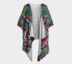 Crystal draped kimono, Draped Kimono by Iz FromEarth. Printed artwork Draped Kimono, available in silky knit and transparent chiffon fabric Chiffon Fabric, Kimono Top, Crystals, Knitting, Clothes, Tops, Women, Fashion, Outfits