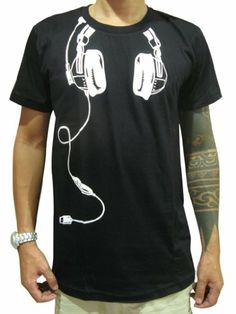 3953e8cf8 Buy Bunny Brand Funky Indie DJ Headphones T-Shirt for men or women. DJ T- Shirt design and clothing. Save off for new customer and worldwide delivery!
