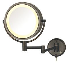 Hard Wired Dual Sided Wall Mount Halo Lighted Mirror in Bronze (1) >>> For more information, visit image link. (This is an affiliate link and I receive a commission for the sales)