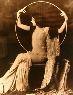 Vintage antique photo of a Girl from the Ziegfeld Follies