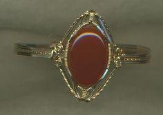 Carnelian Gold Wire Wrap Bracelet 1 - $195.00