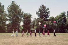 A wedding parade