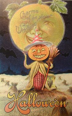 ☆ Witching Hour Scarecrow with Moon :¦: Shop: Traditions Year-Round Holiday Store ☆