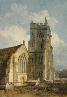 Joseph Mallord William Turner 'St Edmund's Church, Salisbury', c.1800–2 - Watercolour on paper -  Dimensions Support: 384 x 270 mm -  © The British Museum