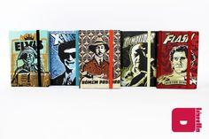 Série Heróis do Brasil por Ricardo Tatoo - cadernos artesanais.  Para comprar acesse: http://loja.meulibretto.com/serie-herois-do-brasil-ct-39c4b