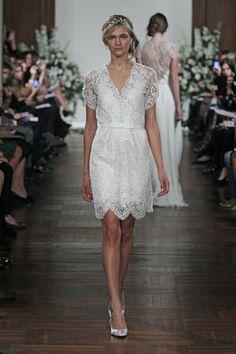 Wedding Dresses, Lace Wedding Dresses, Vintage Wedding Dresses, Hollywood Glam Wedding Dresses, Fashion, Glam Weddings, Vintage Weddings, V-neck Wedding Dresses, Jenny packham, Short Wedding Dresses