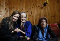 These two sisters, Lena and Mara, told UNHCR Goodwill Ambassador Angelina Jolie about their Easter traditions when she visited them in the Bosnian town of Rogatica.©UNHCR/Aziz