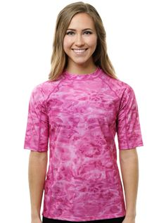 Shop women's plus size rash guard shirts at Aqua Design. Water is beautiful and so are you.