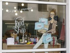 Bonjour food shop window display by Angéline Mélin (Marais - Paris)