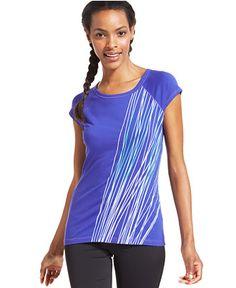 Ideology Short-Sleeve Graphic-Print Tee - Activewear - Women - Macy's