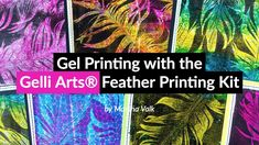 It's Marsha here today sharing a fun project you can do with the Gelli Arts® Feather Printing Kit. The Feather Printing Kit contains everything you. Gel Press, Gelli Plate Printing, Gelli Arts, Plate Art, Craft Stick Crafts, Paper Craft, Painted Paper, Art Journal Inspiration, Prints