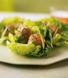 Phase 1 Dinner Recipes Asian Turkey Meatballs in Lettuce Wraps