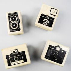 New to the shop today! Www.paperpastries.com classic #camera rubber stamps #polaroid #diana #rollei #holga #photography #photographer  (Taken with Instagram)