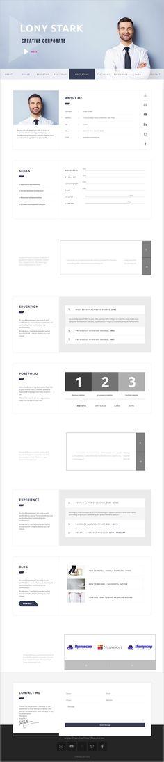 CVitae is a clean, minimal and modern design parallax #Joomla #template for #resume, CV or portfolio websites with 15 stunning homepage layouts download now➩ https://themeforest.net/item/cvitae-premium-responsive-wordpress-resume/19173671?ref=Datasata