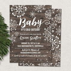 Items similar to Baby it's cold outside baby shower invitation for a snowflake themed baby shower, printable baby shower invitation for winter on Etsy Winter Bridal Showers, Baby Shower Winter, Baby Winter, Winter Theme, Printable Baby Shower Invitations, Baby Shower Printables, Baby Shower Themes, Baby Shower Decorations, Shower Ideas