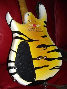 Bruno Traverso Guitars (back of tiger guitar)