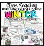Close Reading with Constructed Response Seat Work: Winter