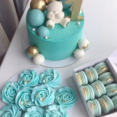 Domanique first birthday ideas Baby Boy Cakes, Cakes For Boys, Cake 1 Year Boy, Gateau Baby Shower Garcon, Boys First Birthday Cake, Birthday Ideas, Beautiful Birthday Cakes, Paper Cake, Cake Boss