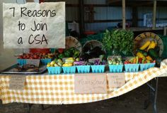 7 Reasons to Join a CSA via @LAURYN MORRIS Blakesley #RealFood #CSA