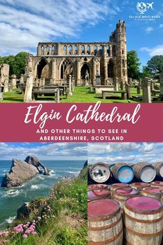 Visiting Scotland's Elgin Cathedral & Driving the North East 250 Route | A beautiful drive in the Aberdeenshire region, seeing the historic Elgin Cathedral, gorgeous Bow Fiddle Rock, Glenglassaugh whisky distillery, a castle ruin, and beautiful coastal scenery. How to plan your visit, things to do in Moray area Scotland, Aberdeen day trips, Scotland coastal drives. #elgin #scotland #ukroadtrip Scotland Travel Guide, Europe Travel Guide, Travel Guides, European Destination, European Travel, Road Trip Uk, Places To Travel, Travel Destinations