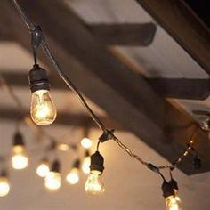 We love these Italian cafe string lights.