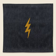 Small Direct Stitch Embroidery - Lightning Bolt