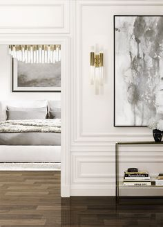 Waterfall Wall and Waterfall Chandelier #lightingdesign #moderndesign #luxurylighting lamp design, ambient lighting, luxury homes . See more at www.luxxu.net