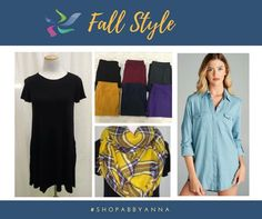 Our clothing at abby + anna boutique can be combined in so many ways to make new outfits! Check out these Fall styles!