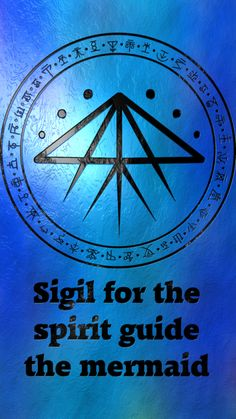 Sigil for the spirit guide the Mermaid Requested by anonymous Wiccan Spell Book, Wiccan Spells, Magick, Witchcraft, Rune Symbols, Magic Symbols, Celtic Symbols, Chakras, Rune Alphabet