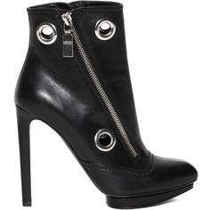 Asymetrical Zip Platform Bootie Alexander McQueen   Boots   Shoes  