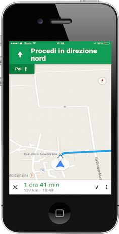 un click e il navigatore turn by turn di google ti porta velocemnte a destinazione