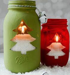 Mason jar crafts for winter. Mason jar crafts for Christmas. Mason jar holiday crafts for kids. Mason Jar Christmas Crafts, Christmas Candles, Jar Crafts, Holiday Crafts, Christmas Diy, Country Christmas, Homemade Christmas, Magical Christmas, Christmas Centerpieces